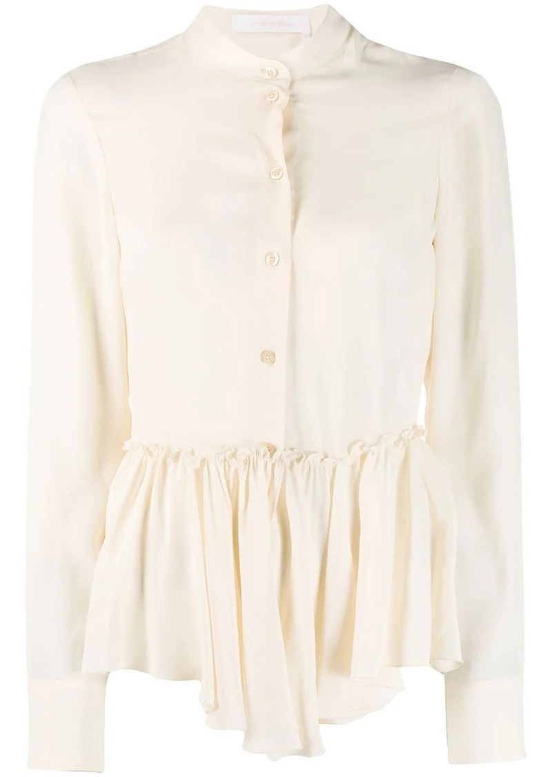 See by Chloé ruffled hem shirt