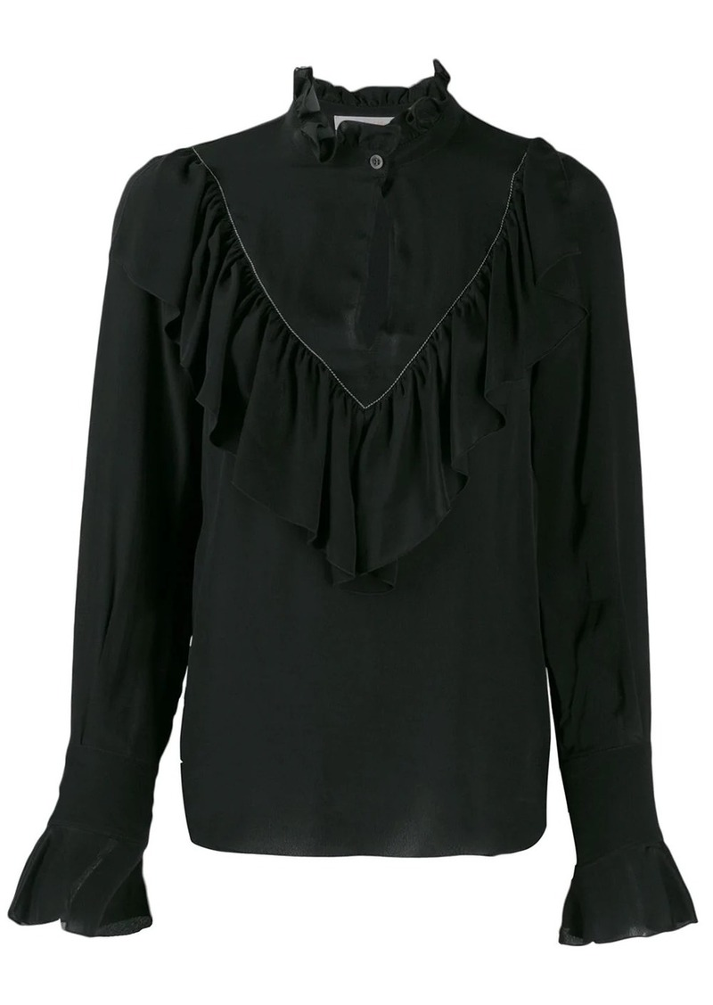 See by Chloé ruffled keyhole shirt