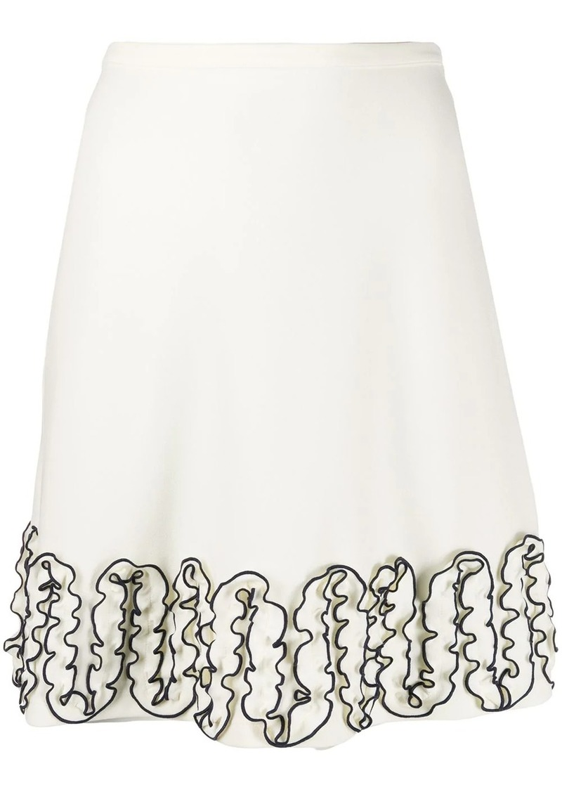 See by Chloé ruffled knee-length skirt