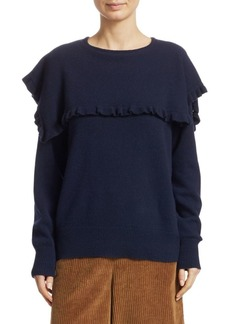 See by Chloé Ruffled Long Sleeve Sweater