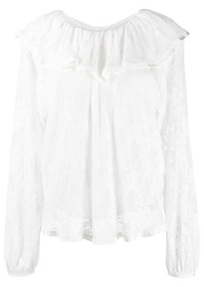 See by Chloé ruffled neck blouse