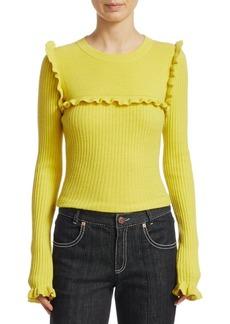 See by Chloé Ruffled Rib Sweater