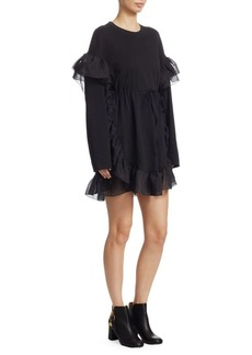 See by Chloé Ruffled T-Shirt Dress