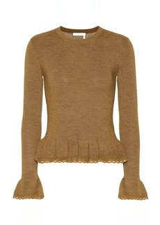See by Chloé Ruffled wool sweater