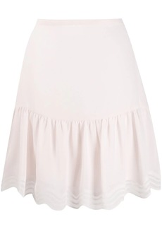 See by Chloé scalloped georgette mini skirt