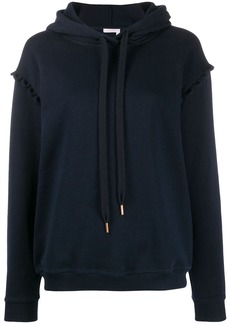 See by Chloé scalloped trim hoodie