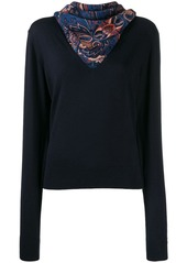 See by Chloé scarf neck jumper
