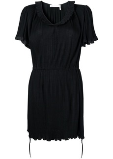 See by Chloé scoop neck pleated dress