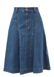 See By Chloé A-Line denim midi skirt