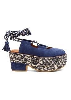 See By Chloé Adele espadrille-platform suede sandals