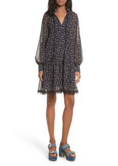 See by Chloé Allover Roses Drop Hem Dress