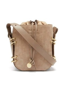 See By Chloé Alvy ring-embellished suede and leather bucket bag