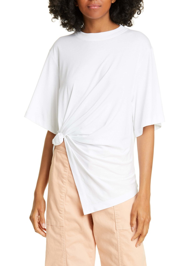 See by Chloé Asymmetrical Knotted Cotton Tee