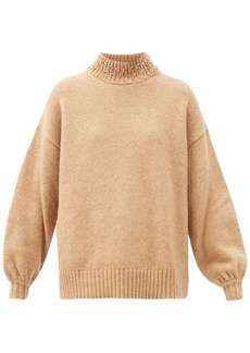 See By Chloé Beaded high-neck wool-blend sweater