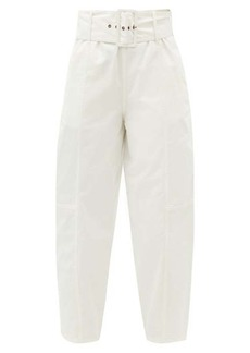 See By Chloé Belted cotton-blend twill trousers