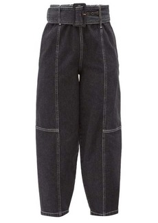 See By Chloé Belted cropped straight-leg jeans