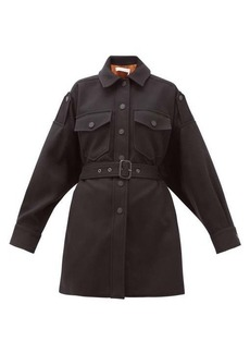 See By Chloé Belted dropped-sleeve cotton-blend jacket