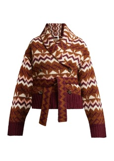 See By Chloé Belted Fair Isle cardigan