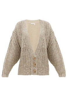 See By Chloé Bi-colour alpaca-blend cardigan