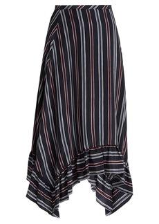 See By Chloé Bias-cut striped silk midi skirt