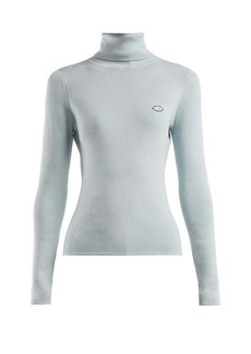 See By Chloé Bisou roll-neck cotton-blend sweater