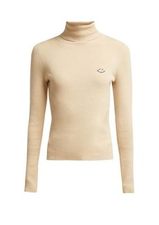 See By Chloé Bisous roll-neck cotton-blend sweater