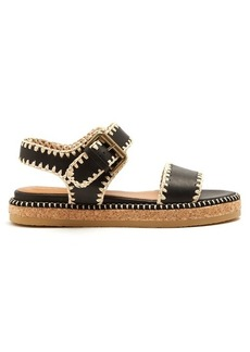 See By Chloé Blanket-stitch embellished leather sandals