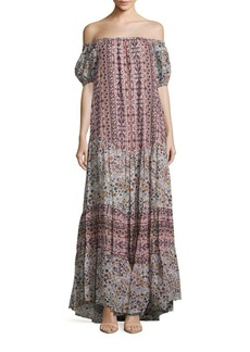 See by Chloé Boho Floral Print Tent Gown