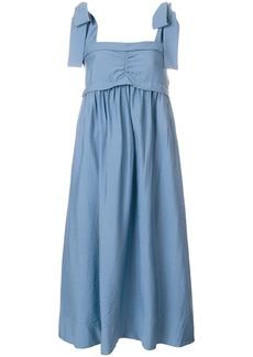 See By Chloé bow-shoulder midi dress - Blue