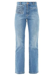 See By Chloé Braided-pocket kick-flare jeans