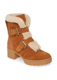 See by Chloé Brandie Genuine Shearling Buckle Bootie (Women)