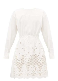 See By Chloé Broderie-anglaise cotton-poplin dress