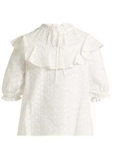 See By Chloé Broderie-anglaise cotton top