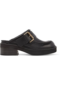See by Chloé Buckled leather slippers
