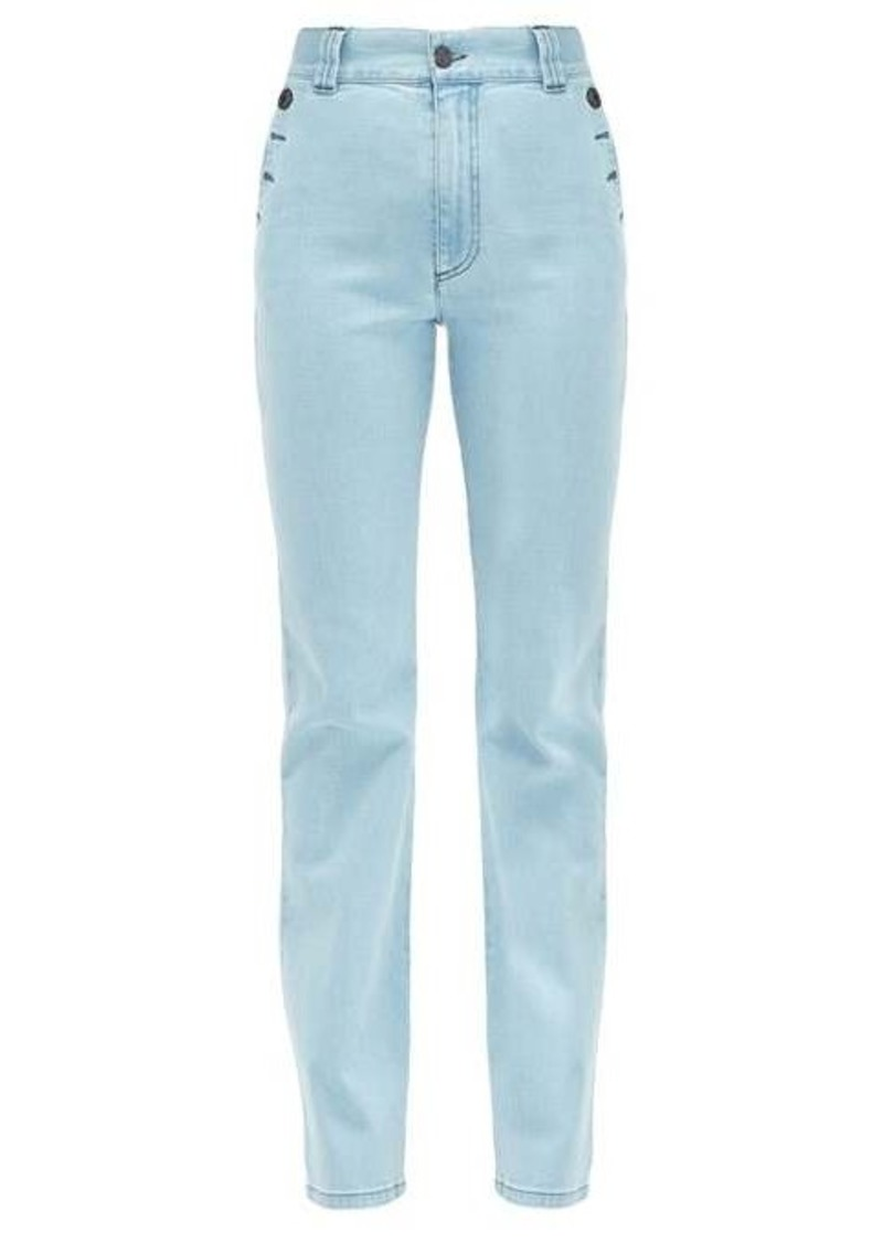 See By Chloé Buttoned flared high-rise jeans