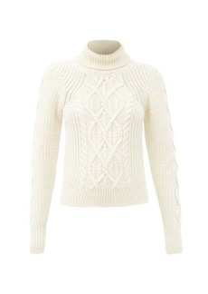 See By Chloé Cable-knit wool-blend roll-neck sweater