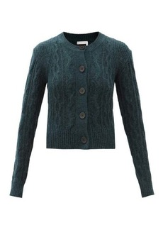 See By Chloé Cable-knitted wool-blend cardigan