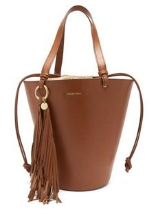 See By Chloé Cecilia fringed leather bucket bag