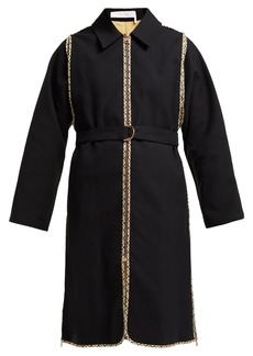 See By Chloé Check-trimmed cotton trench coat