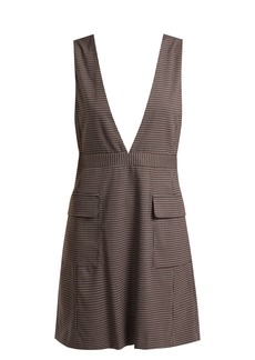 See By Chloé Checked crepe pinafore dress