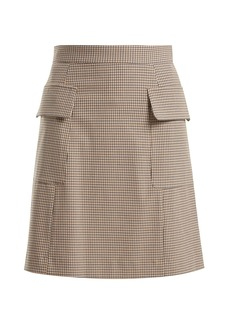 See By Chloé Checked flap pocket mini skirt