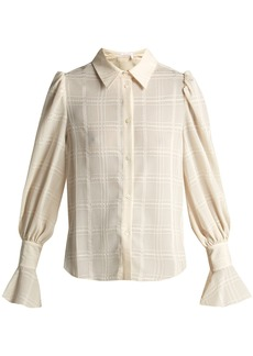 See By Chloé Checked flared-cuff shirt