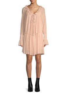 See by Chloé Chiffon Peasant Dress