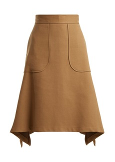 See By Chloé City cotton-blend midi skirt