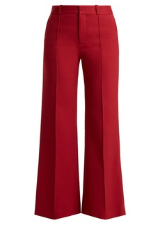 See By Chloé City cotton-blend wide-leg trousers