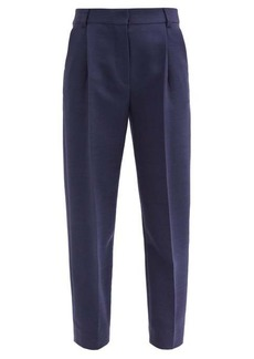 See By Chloé City cropped pleated-rise twill trousers