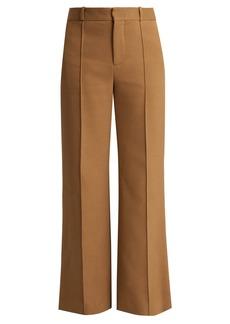 See By Chloé City wide-leg cotton-blend trousers