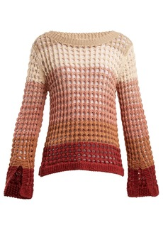 See By Chloé Colour-block open-knit sweater