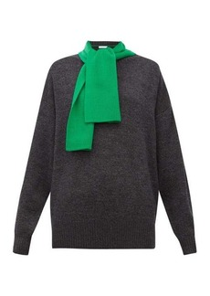 See By Chloé Contrast scarf-neck wool sweater