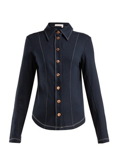 See By Chloé Contrast-stitch slim-fit shirt